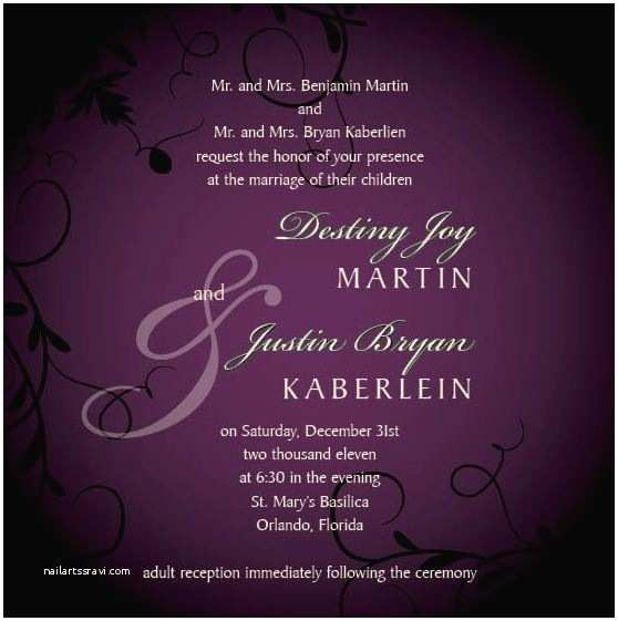 """Invitation Wording for Adults Only Party """"where Elegance Equals to Masterpiece"""" Wedding Invitation"""