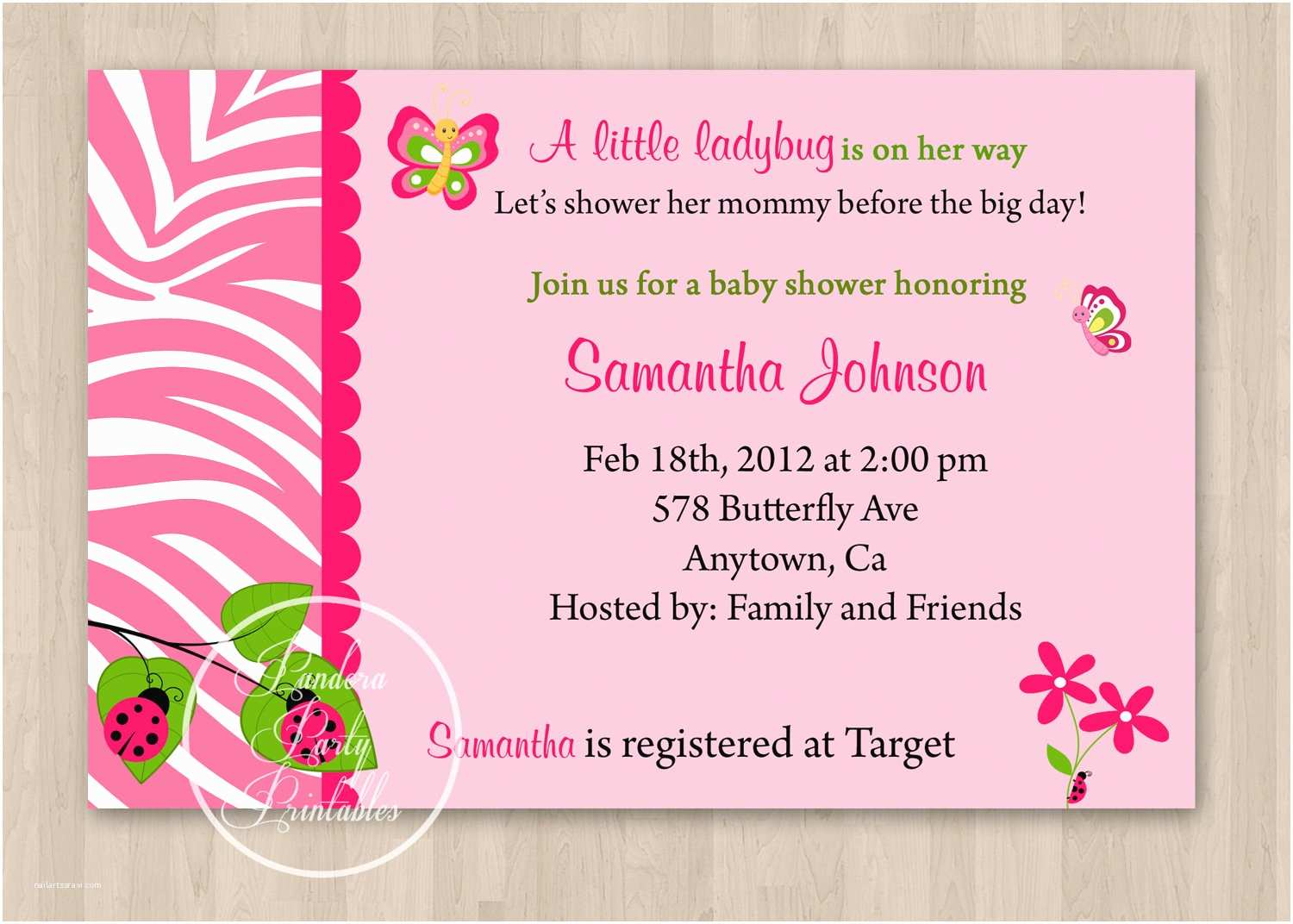Invitations for Baby Shower Design butterfly Baby Shower Invitations Wording