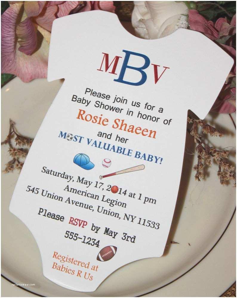 Invitations for Baby Shower Template Baseball Baby Shower Invitations