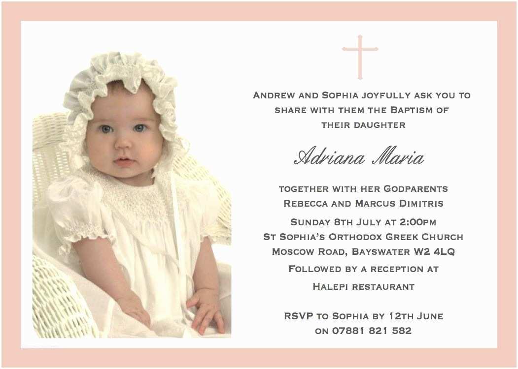 Invitations for Baptism Christening Invitation Cards Christening Invitation