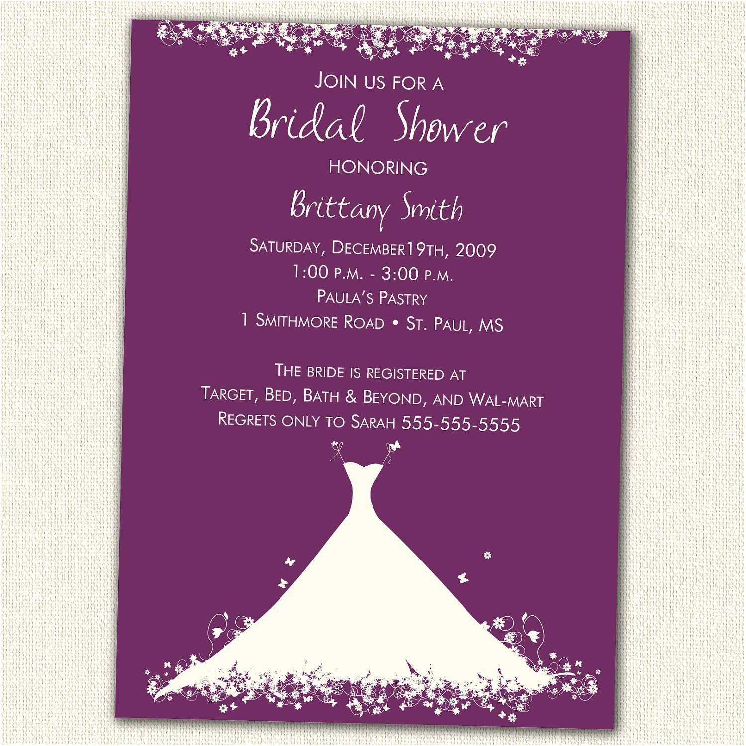 Invitations for Bridal Shower Bridal Shower Invitation