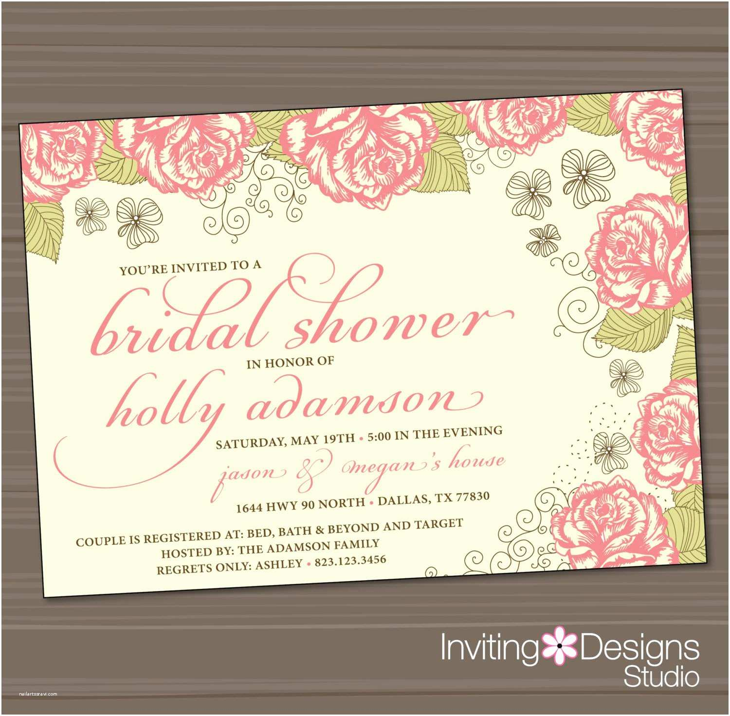 Invitations for Bridal Shower Bridal Shower Invitations Inexpensive Bridal Shower