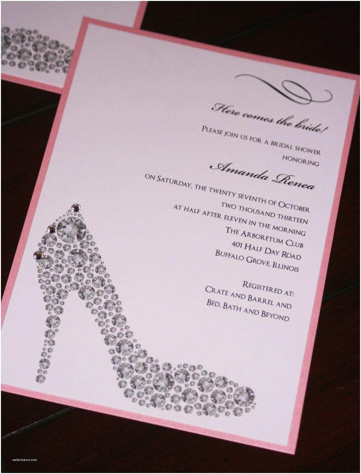 Invitations for Bridal Shower Diy Wedding Shower Invitations Diy Bridal Shower
