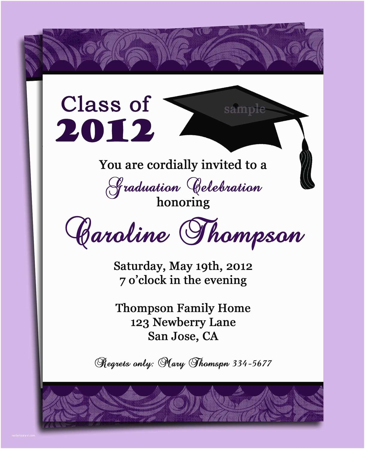Invitations for Graduation Graduation Party or Announcement Invitation Printable or