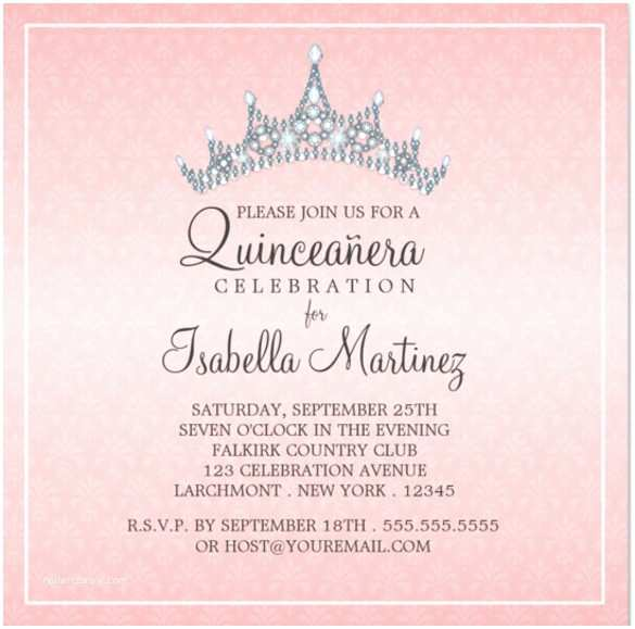 Invitations for Quinceaneras 25 Quinceanera Invitations Template Free Psd Vector