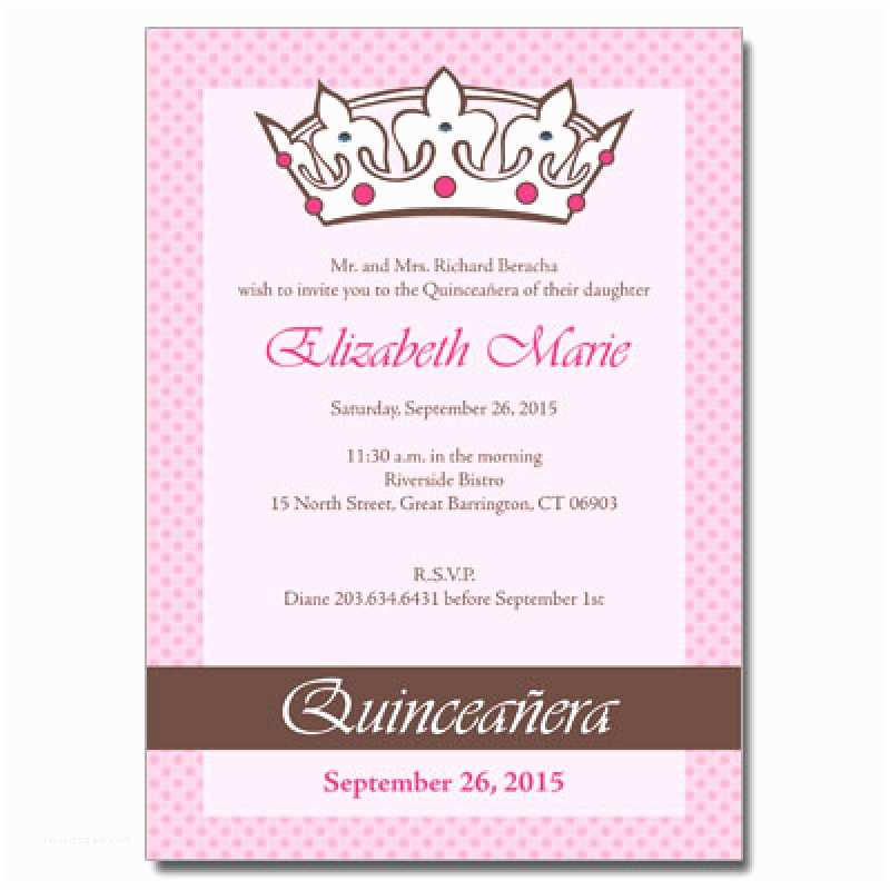 Invitations for Quinceaneras Quince Invitation In English – orderecigsjuicefo