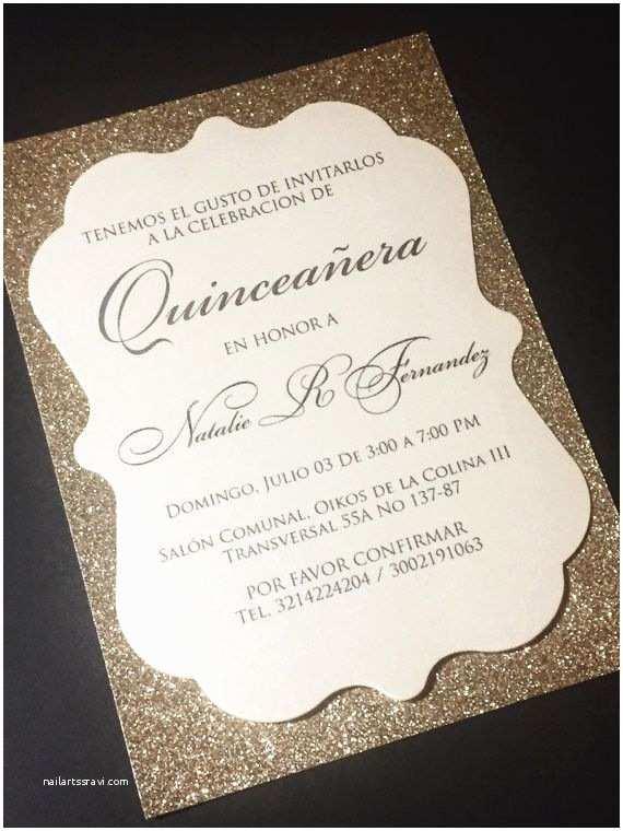 Invitations for Quinceaneras Quinceanera Invitation Glitter Quinceanera Invitations