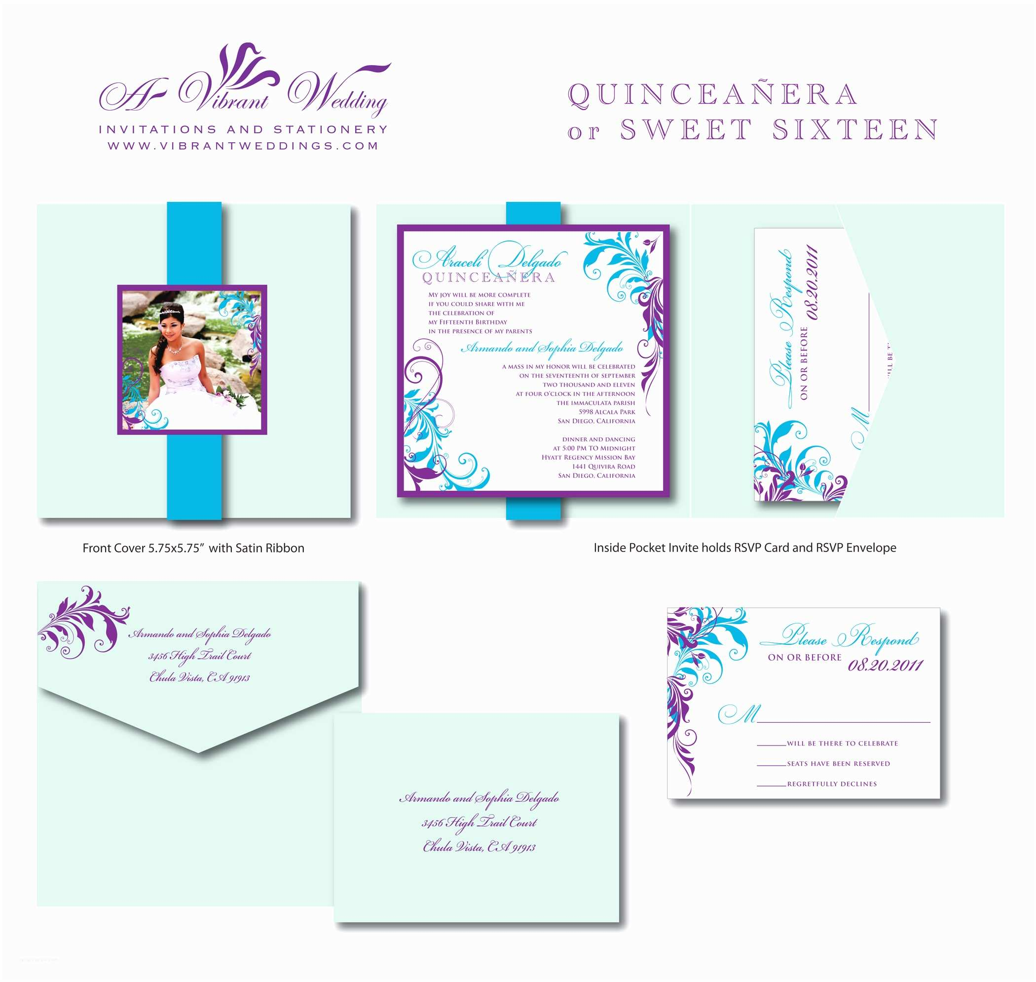 Invitations for Quinceaneras Quinceanera Invites – Page 2 – A Vibrant Wedding