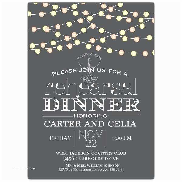 Invitations for Rehearsal Dinner Night Lights Rehearsal Dinner Invitation