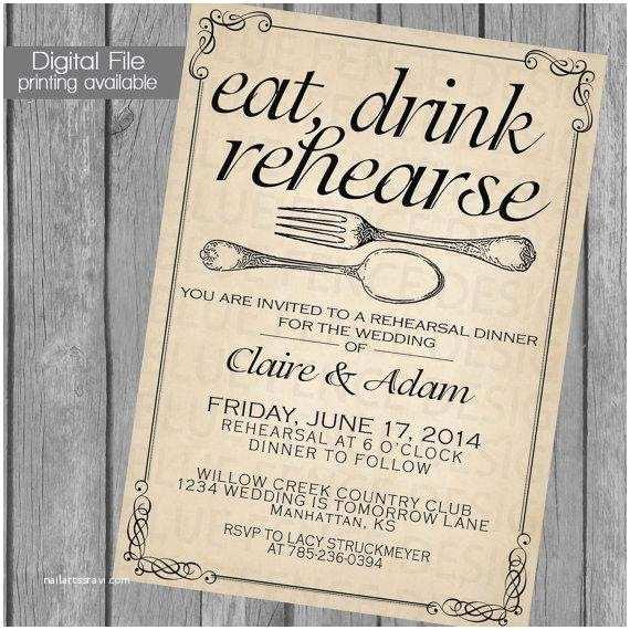 Invitations for Rehearsal Dinner Rehearsal Dinner Invitation Wedding Dinner Dinner Party
