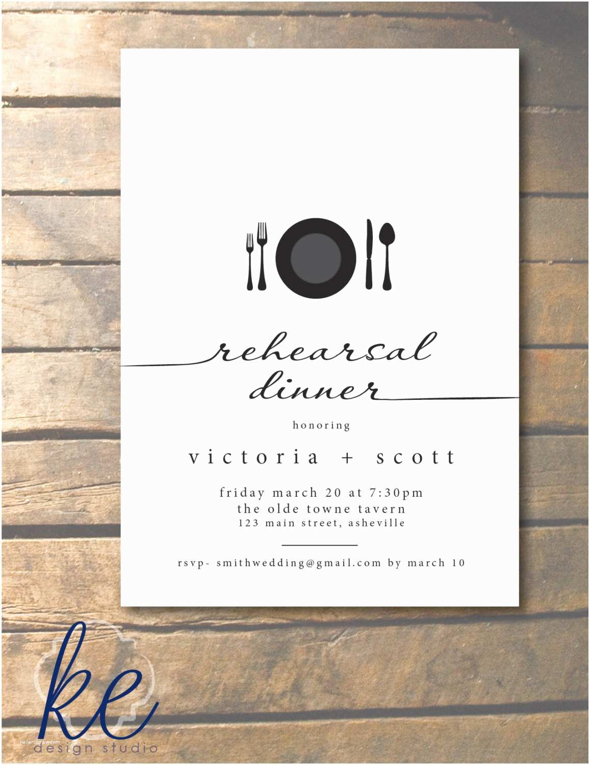 Invitations for Rehearsal Dinner Script Rehearsal Dinner Invitation with Place by