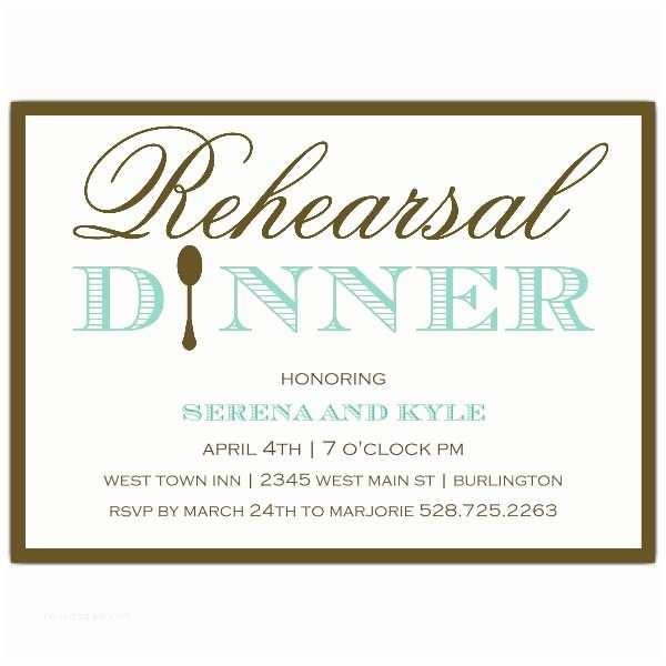 Invitations for Rehearsal Dinner Simple Elegance Rehearsal Dinner Invitations
