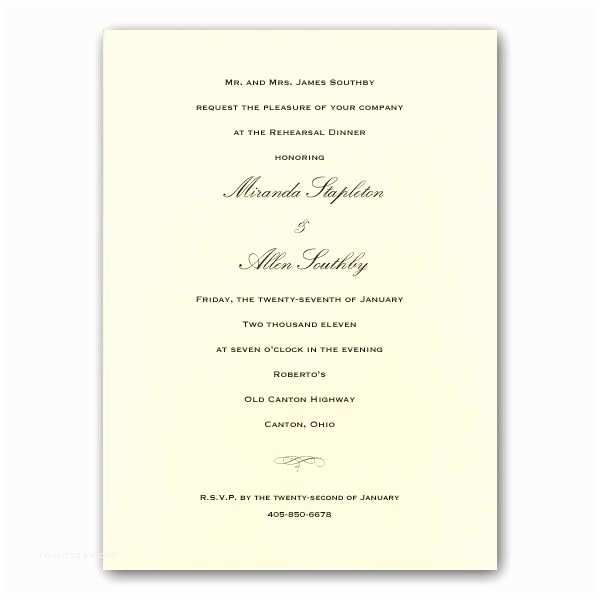 Invitations for Rehearsal Dinner Traditional Ecru Rehearsal Dinner Invitations