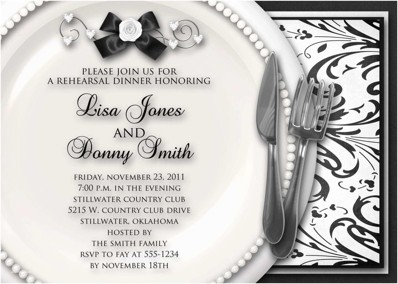 Invitations for Rehearsal Dinner Wedding Rehearsal Dinner Invitation Black & by