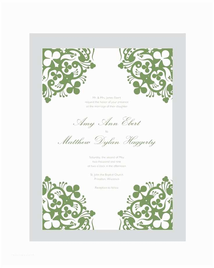 Irish Wedding Invitations 17 Best Images About Irish Wedding Invitations On