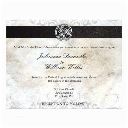 Irish Wedding Invitations Celtic Knot Irish Gaelic Wedding Invitation