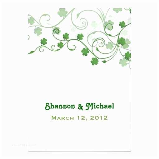 """Irish Wedding Invitations Clover Irish Wedding Invitation 5"""" X 7"""" Invitation Card"""
