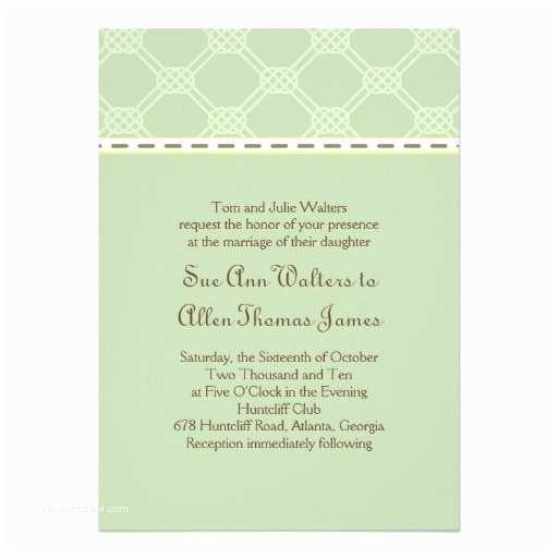 "Irish Wedding Invitations Elegant Celtic Wedding Invitation 5"" X 7"" Invitation Card"