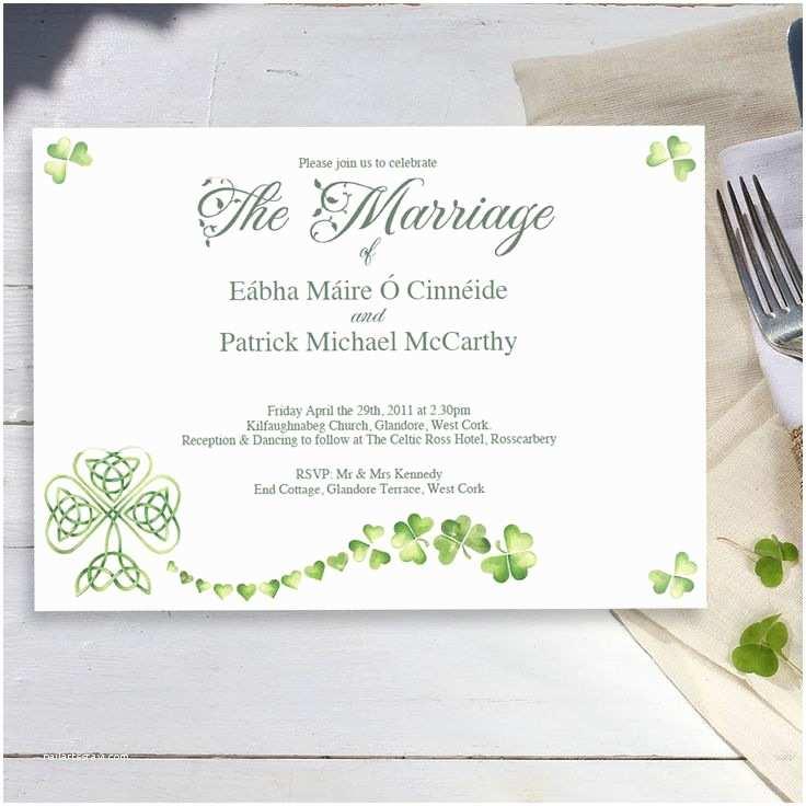 Irish Wedding Invitation Ideas Letter Bestkitchenview Co