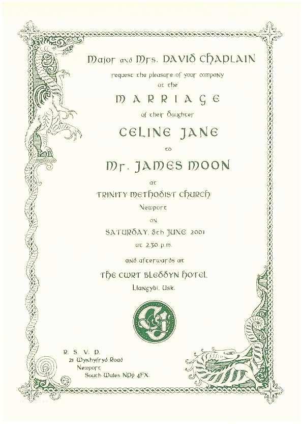 Irish Wedding Invitations Templates Wedding Invitation Wording