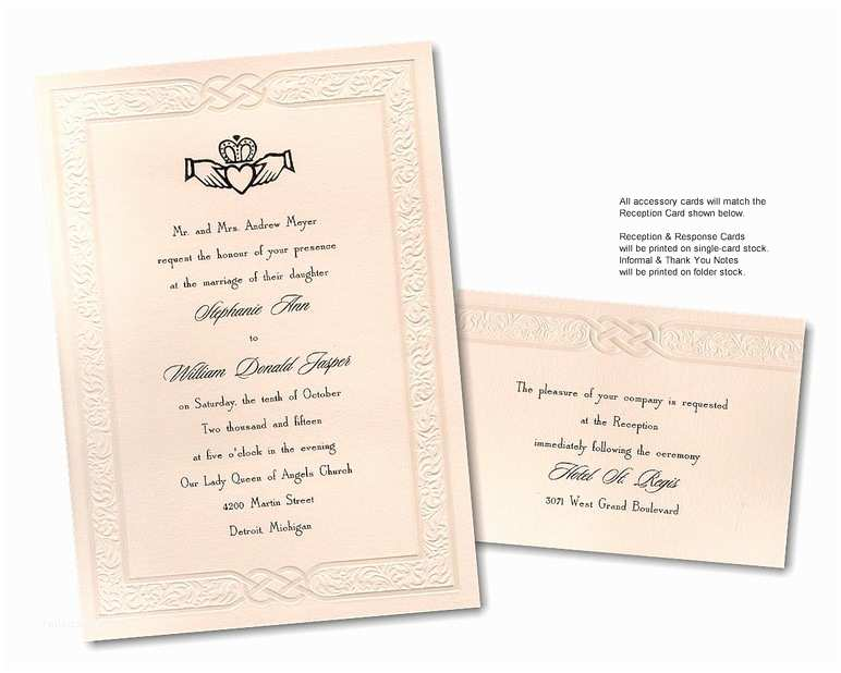 Irish Wedding Invitations Templates Celtic Wedding Invitation Wording