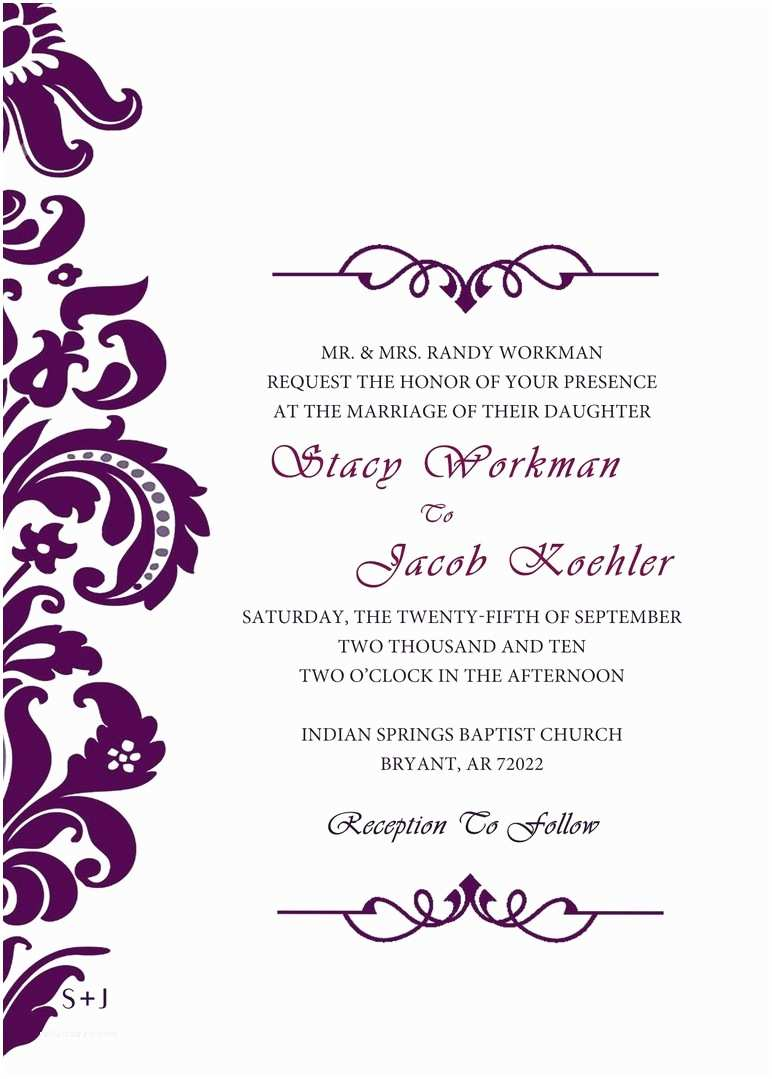 Irish Wedding Invitations Templates Celtic Wedding Invitations Templates