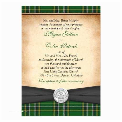 Irish Wedding Invitations Templates Personalized Tartan Invitations