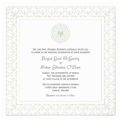 Irish Wedding Invitations Traditional Irish Wedding Invitations Celtic Knot 5 25