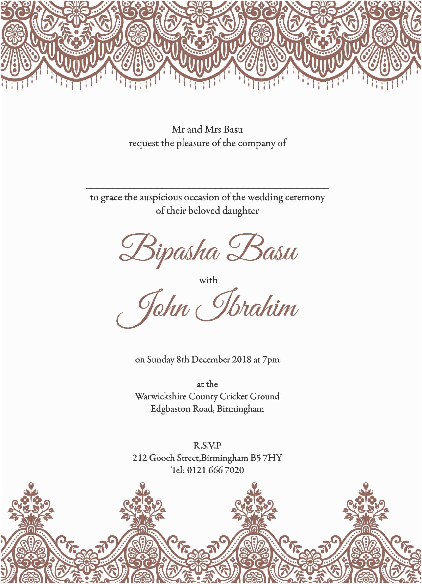 Islamic Wedding Invitations Invitation Card Wedding islamic Choice Image Invitation