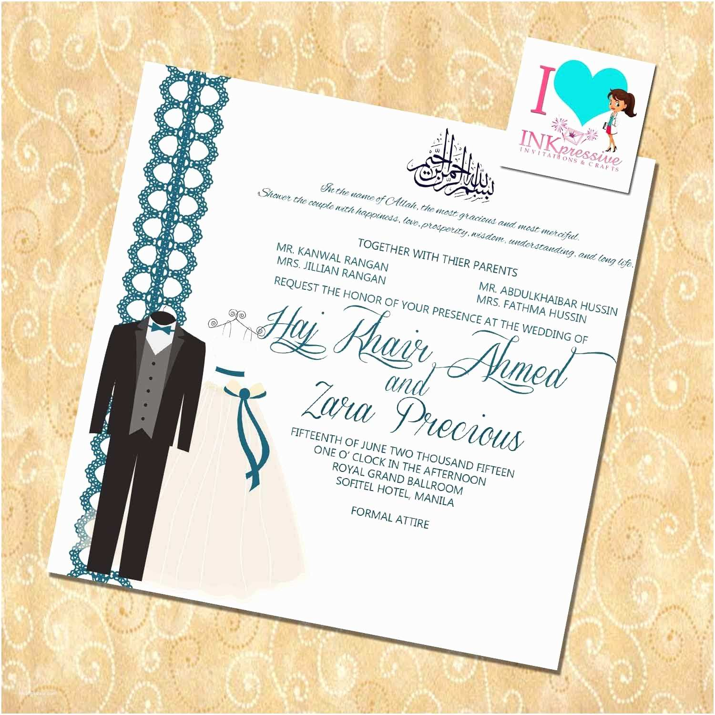 Islamic Wedding Invitations Wedding Invitation Wording Wedding Invitations Templates
