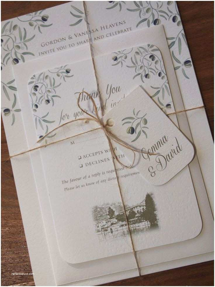 Italian themed Wedding Invitations Italian Wedding Invitation