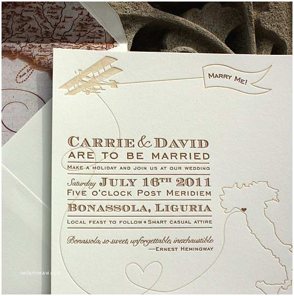 Italian themed Wedding Invitations Vintage Inspired Invitations for A Destination Wedding In