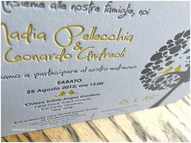 Italian Wedding Invitations Letterpress Wedding Invitation Custom Wedding