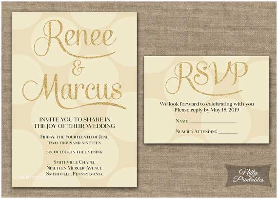 Ivory and Gold Wedding Invitations Cream Wedding Invitations Ivory Gold Wedding by