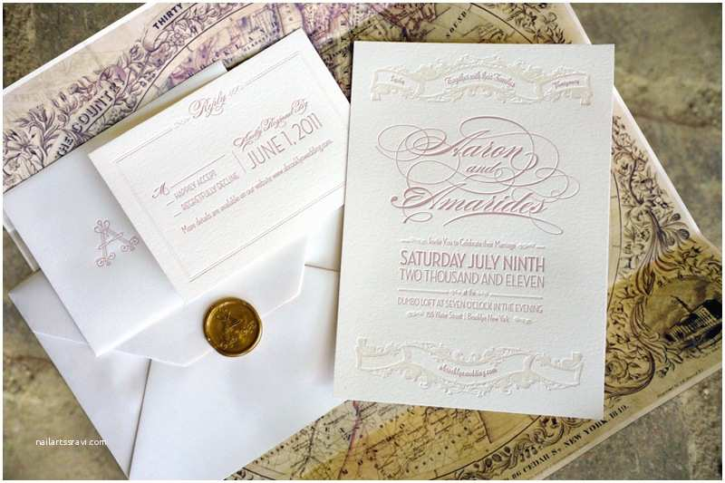 Ivory and Gold Wedding Invitations Elegant Vintage Inspired Wedding Invitation Ivory Gold