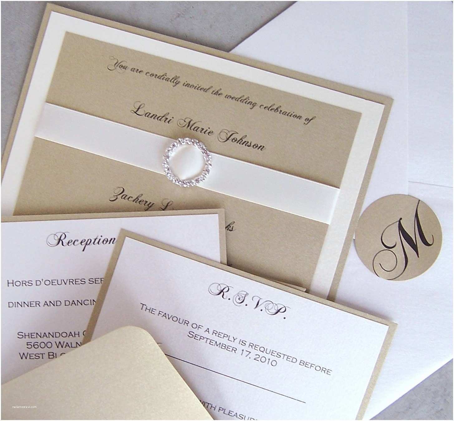 Ivory and Gold Wedding Invitations Elegant Wedding Invitation Gold Ivory Wedding Invitation