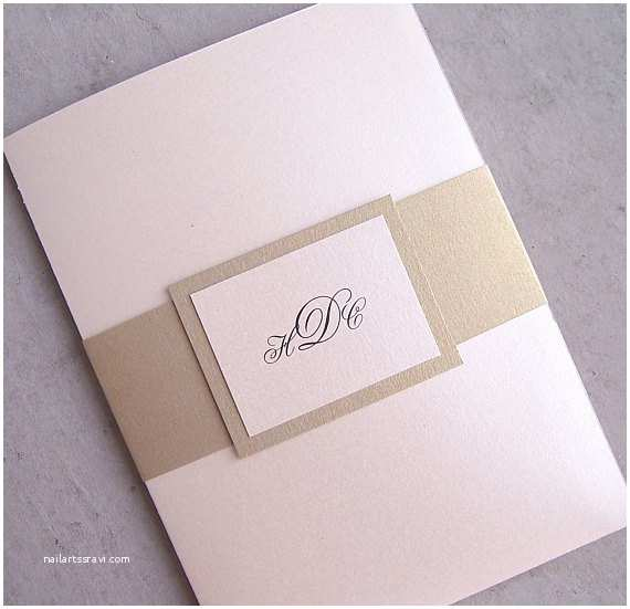 Ivory and Gold Wedding Invitations Elegant Wedding Invitation Gold Wedding Invitation Ivory