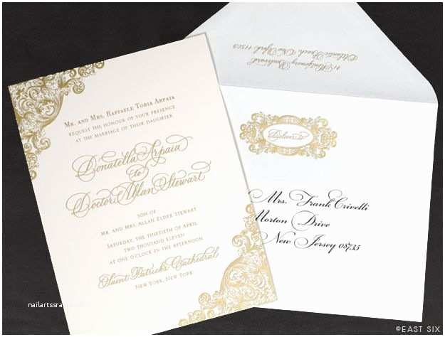 Ivory and Gold Wedding Invitations Gold and Ivory Invitation Wedding