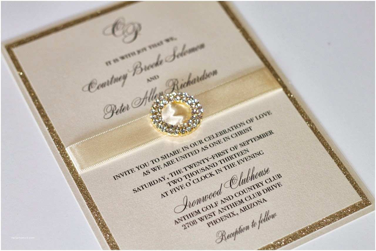 Ivory and Gold Wedding Invitations Gorgeous Wedding Invitation In Gold and Ivory