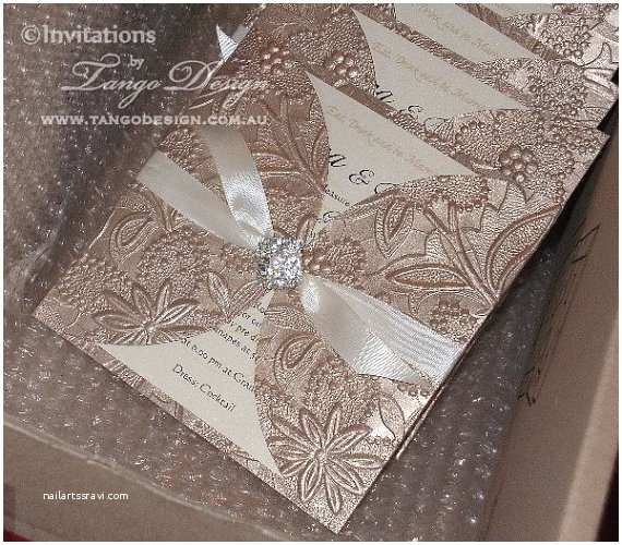 Ivory and Gold Wedding Invitations Ivory Champagne and Gold Wedding Invitation Elegant