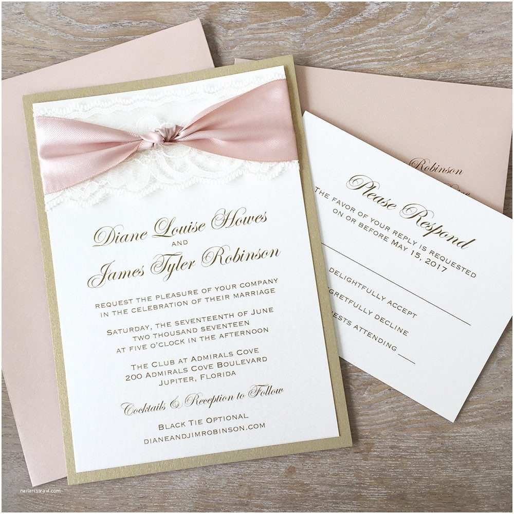 Ivory and Gold Wedding Invitations the Knot Blush and Gold Wedding Invitation with Ivory