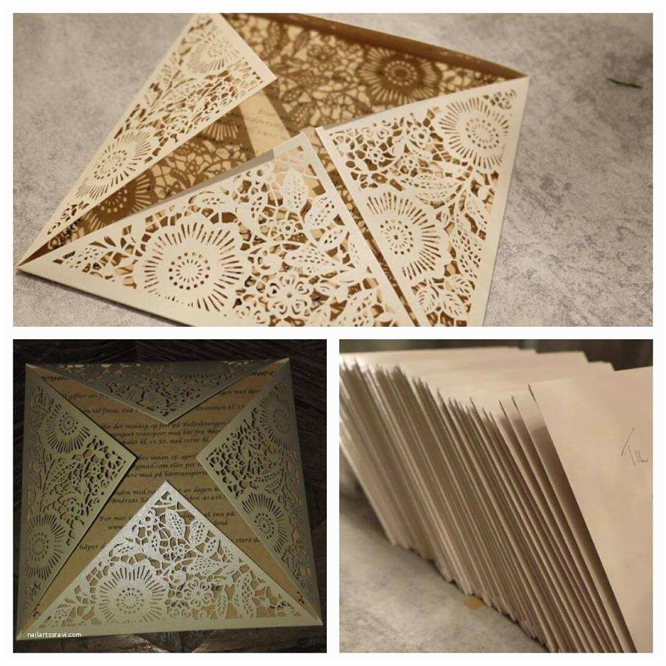 affordable pearl white floral laser cut wedding invitations ewws017