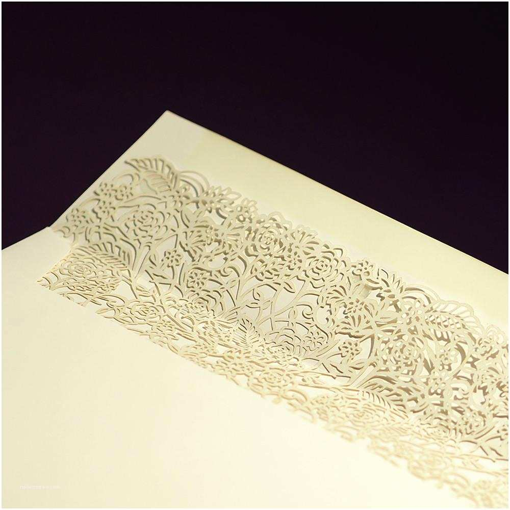 Ivory Laser Cut Wedding Invitations Ivory Laser Cut Roses – Wedding Invitation – Custom