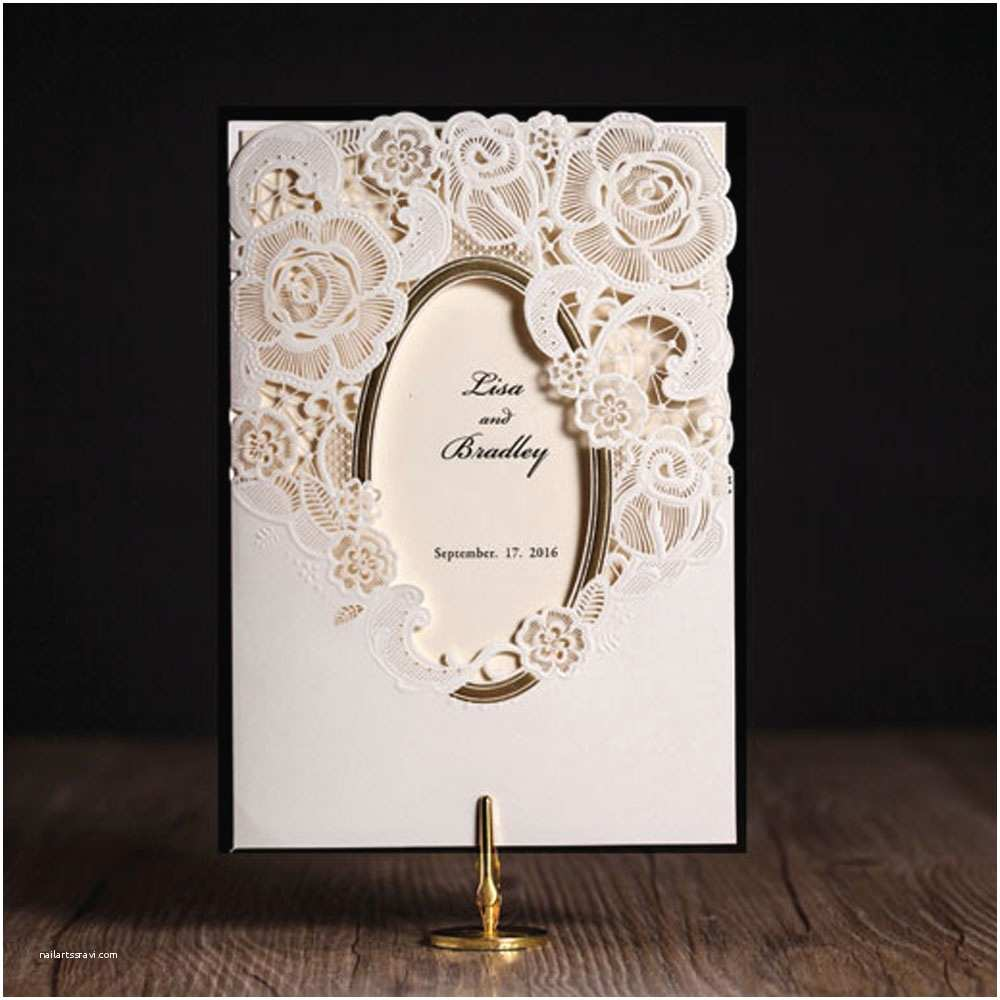 Ivory Laser Cut Wedding Invitations Laser Cut Wedding Invitations Cards Ivory Engagement