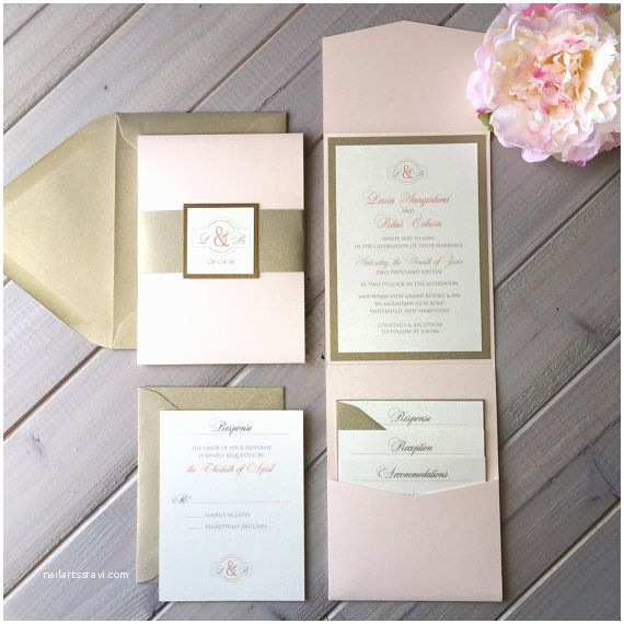 Ivory Pocketfold Wedding Invitations Best 25 Blush Wedding Invitations Ideas On Pinterest