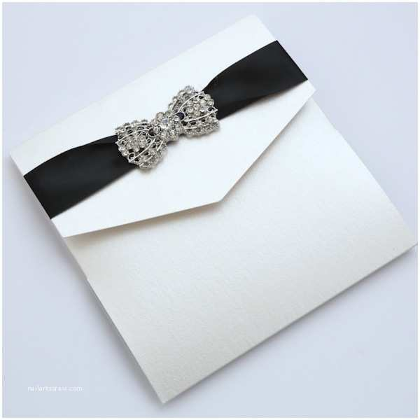 Ivory Pocketfold Wedding Invitations Ivory & Black Chandelier Pocketfold Wedding Invitation