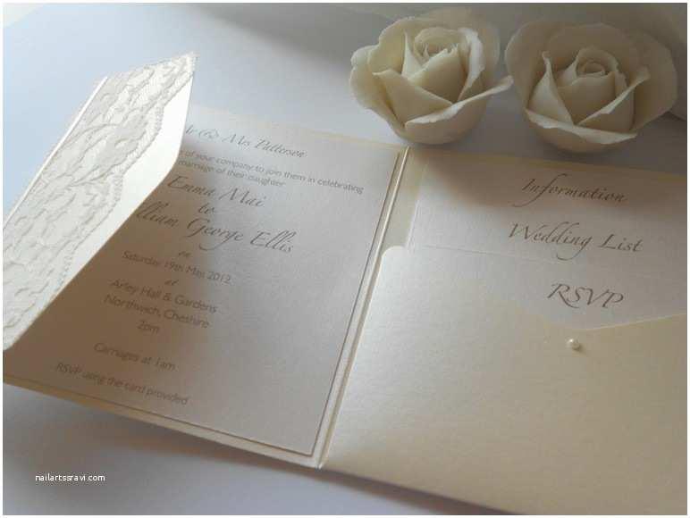 Ivory Pocketfold Wedding Invitations Ivory Pocketfold Wedding Invitations