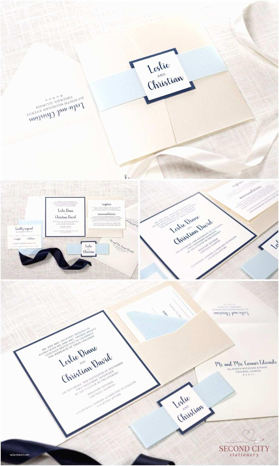 Ivory Pocketfold Wedding Invitations Modern Pocket Fold Wedding Invitation In Ivory Champagne