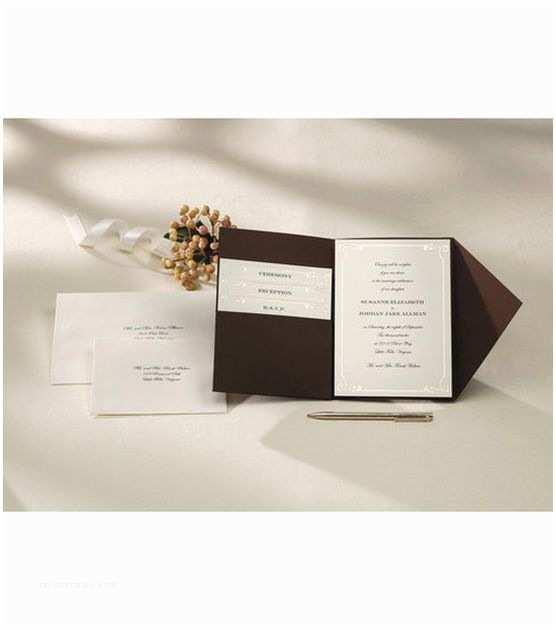 Ivory Pocketfold Wedding Invitations Wilton Pocket Invitation Kit Vintage Ivory