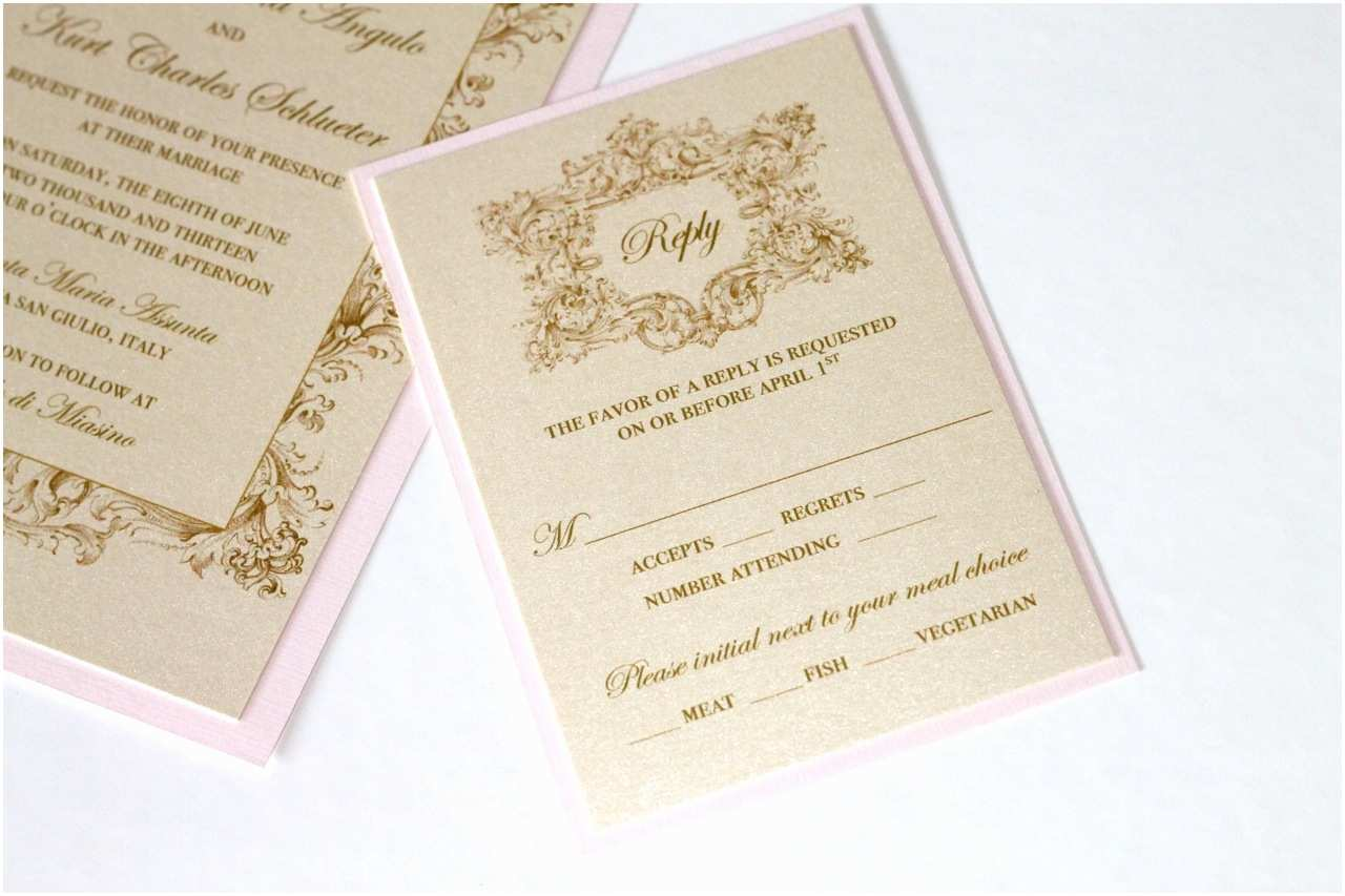 vintage wedding invitations in ivory